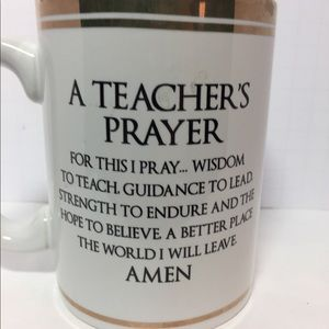 carson Other - Teacher coffee cup gold trim  teacher's Prayer